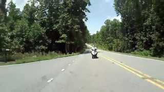 Ride thru Fort Mountain State Park on my Piaggio MP3