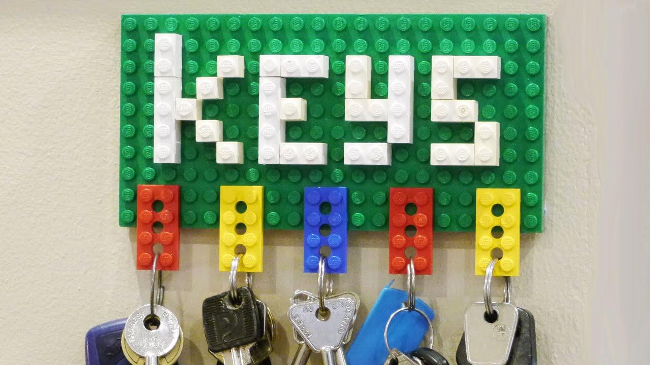 How To Make A Lego Key Holder Youtube