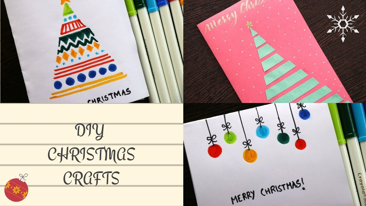 Diy Christmas Cards Easy 5 Minute Crafts Handmade Greeting Cards