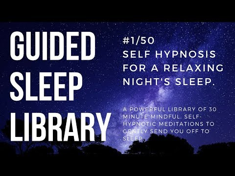 #1/50. Beat insomnia with guided hypnosis - EnTrance Total Sleep Library - 30 min.