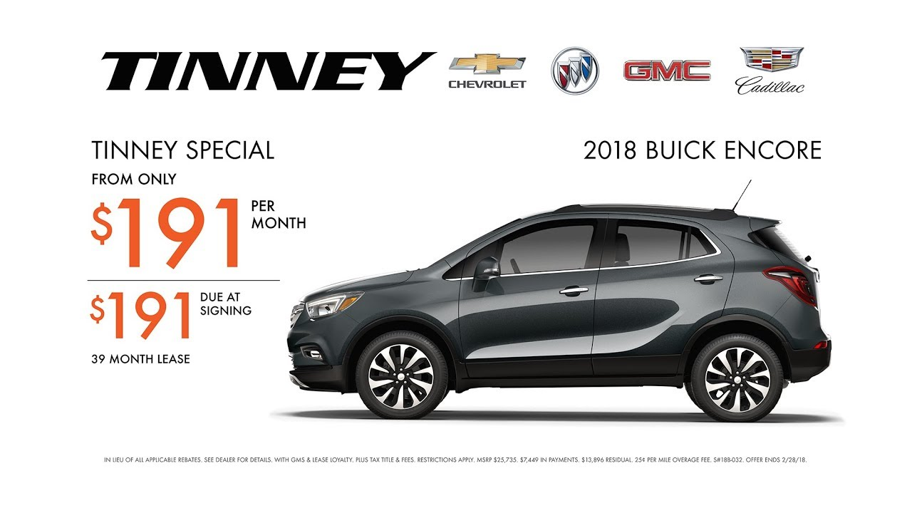 2018 Buick Encore Lease Rebates And Incentives Tinney Automotive