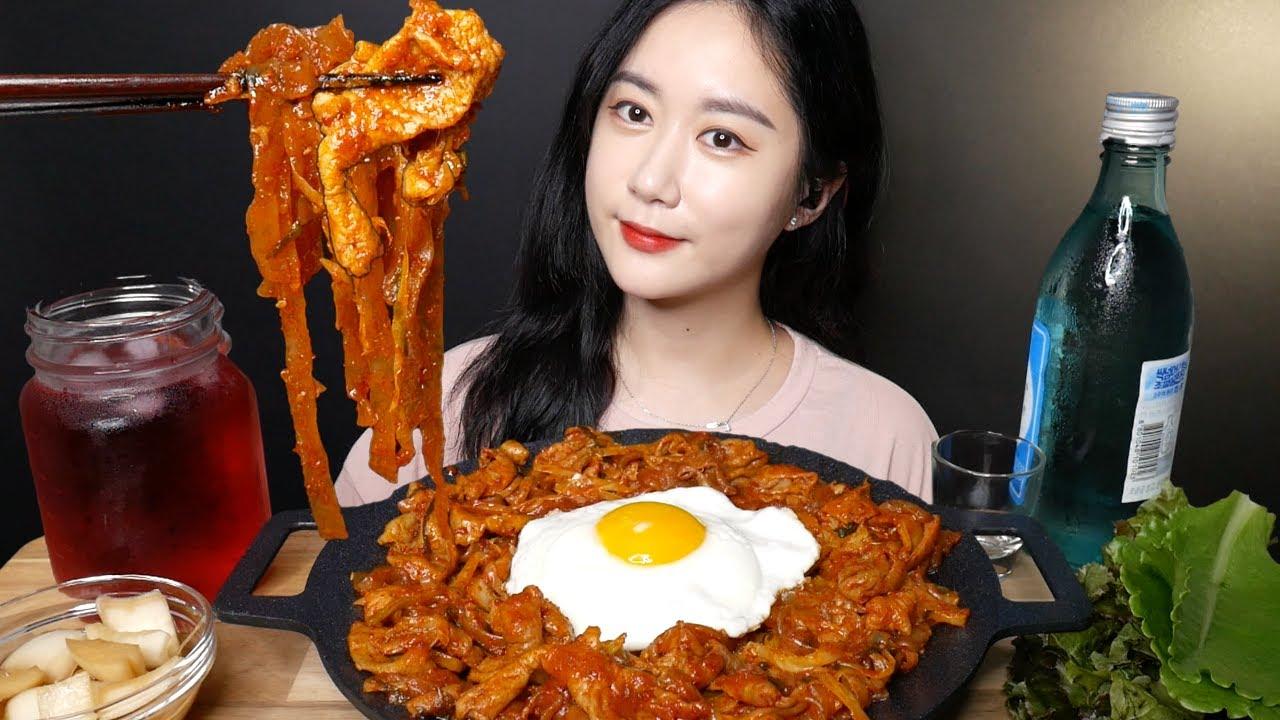곱창볶음에 소주 + 볶음밥 먹방 [Spicy Stir-fried Pork Tripe] ホルモン炒め Real Sound MUKBANG | ASMR | EATING SOUND