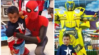 Zefa Play with Spiderman and Bumblebee