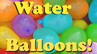 Learn Colors & Counting by Popping Water Balloons!