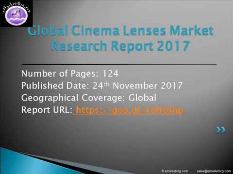 The Cinema Lenses market are moving forward with a focused approach to remain