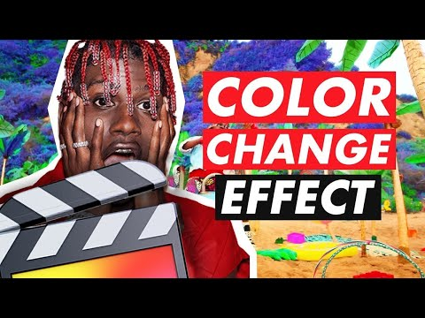 Color Change Effect (Lil Yachty/Lil Skies) - Final Cut Pro X Tutorial
