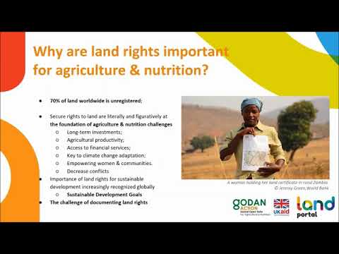 How open data on land and property rights can improve global food security and nutrition - 23/04/18