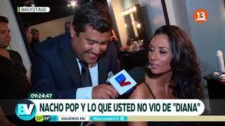 Nacho Pop siguió a Pamela Díaz en backstage de