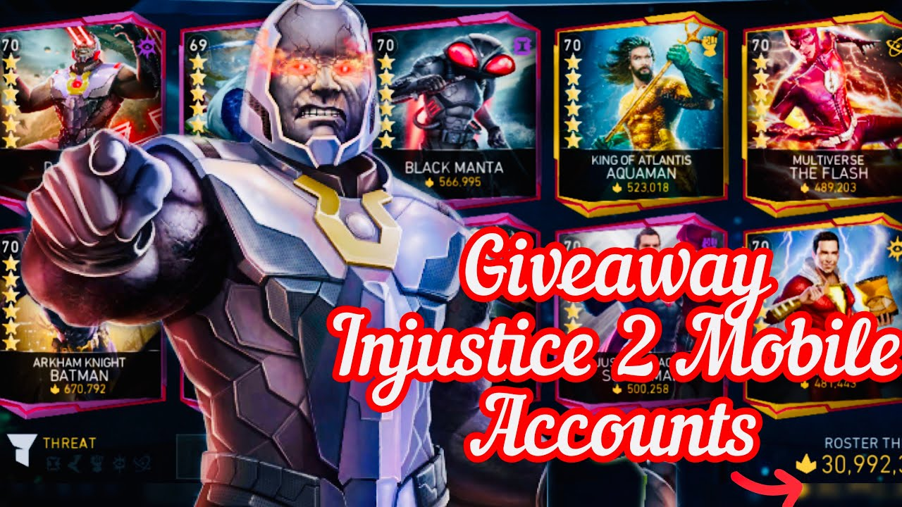Giveaway 15M Account iOS & Android | Injustice 2 Mobile.....!