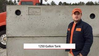 1250 Gallon Precast Septic Tank