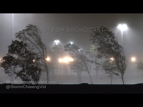 Hurricane Matthew, Savannah GA Winds Rain - 10/7/2016