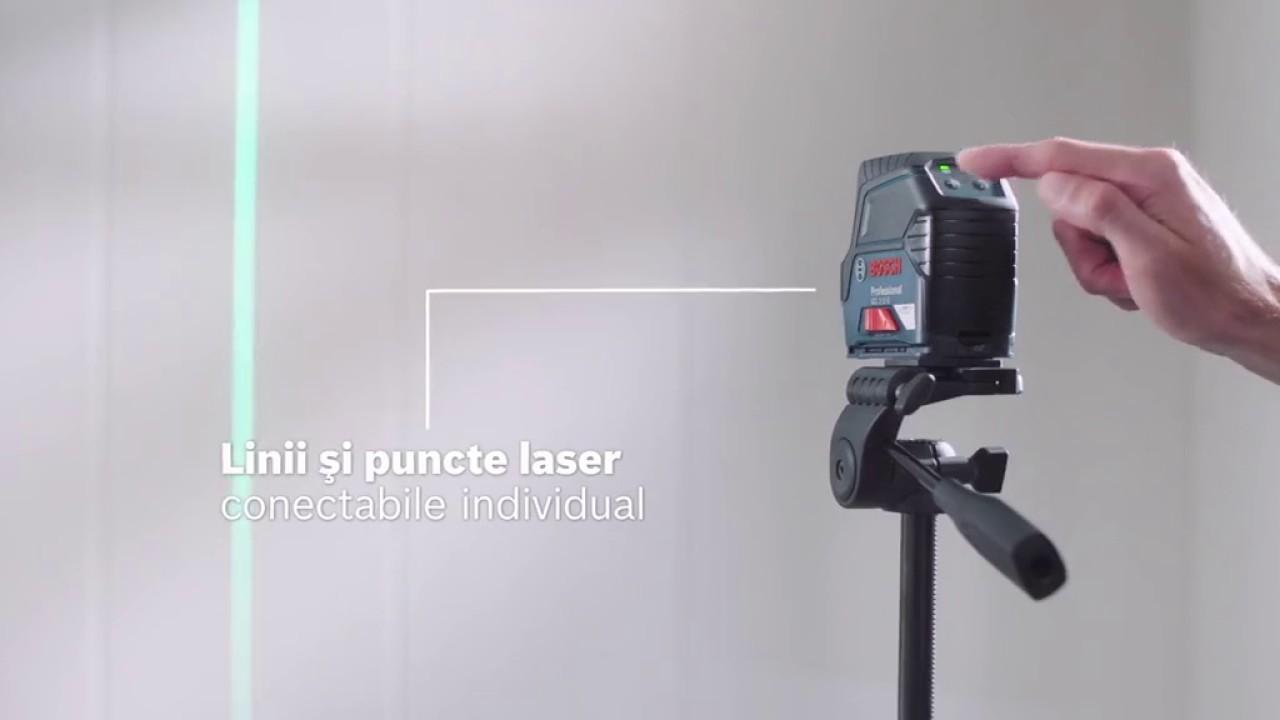 bosch gcl 2 15 g nivela laser multifunctionala youtube. Black Bedroom Furniture Sets. Home Design Ideas