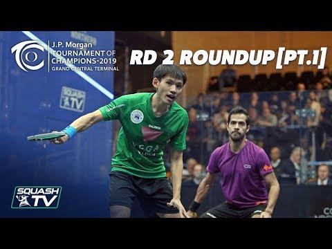 Squash: Tournament of Champions 2019 - Men\'s Rd 2 Roundup [Pt.1]
