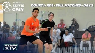 Squash: El Gouna International - Court 1 - Rd 1 Full Matches - Day 2