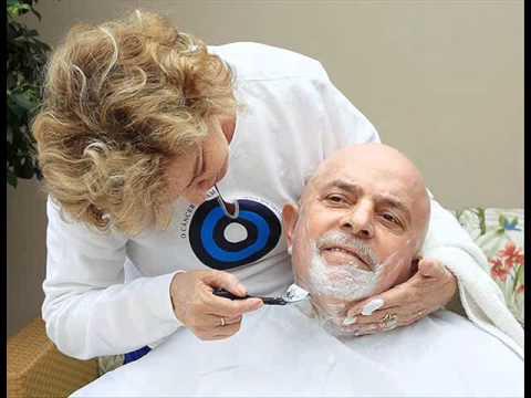 Lula raspa o cabelo na luta contra o Cancer!