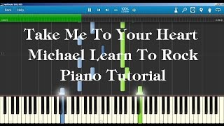 MLTR - Take Me To Your Heart Piano Tutorial How to play on Piano