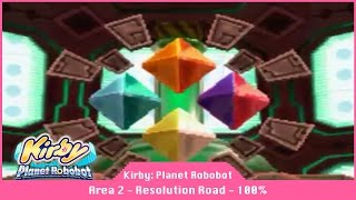Kirby: Planet Robobot - Part 3 - Area 2: Resolution Road - 100% Code Cube Walkthrough