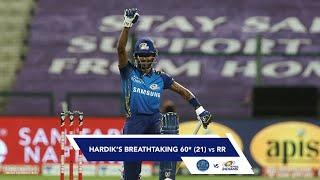 Hardik Pandya's Breathtaking 60* Against Rajasthan Royals