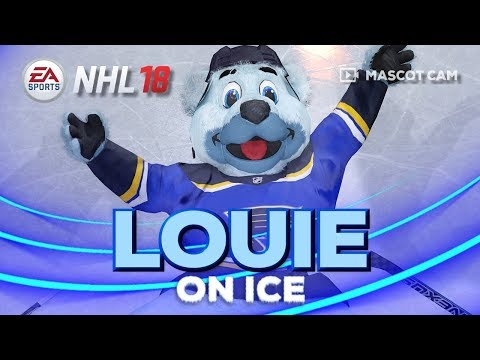 NHL 18 Mascot Cam on Ice | Louie (St Louis Blues)