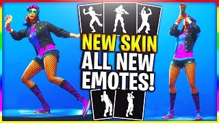 *ALL NEW* DANCE EMOTES ON LEAKED SKIN! SYNTH SKIN DOES ALL NEW EMOTES IN FORTNITE! (LEAKED EMOTES)