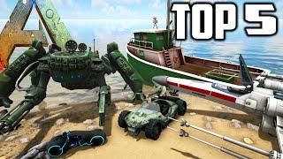 Ark Survival Evolved - TOP 5 VEHICLES in ARK (Ark Modded Gameplay)