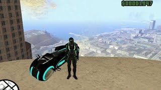 Gta Tron skin & his bike MOD
