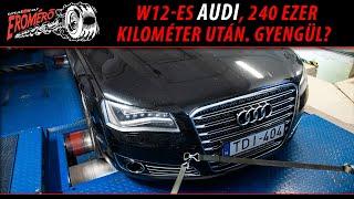 Totalcar Erőmérő: W12-es Audi, 240 ezer kilométer után. Gyengül?