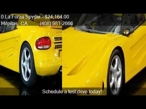 0 La Forza Spyder  for sale in Milpitas, CA 95035 at NBS Aut