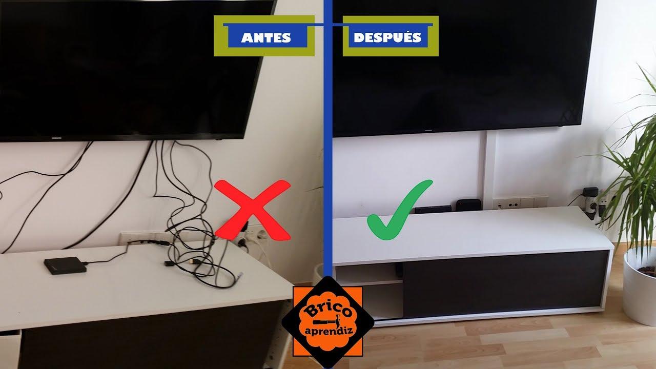 Diy Como Ocultar Los Cables Del Televisor Muy Fácil