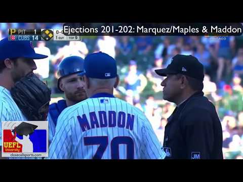 Ejections 201-202 - Alfonso Marquez Ejects Cubs P Dillon Maples & Manager Joe Maddon