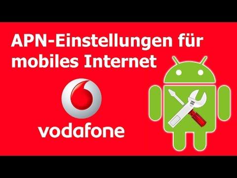 Vodafone: APN-Einstellungen für mobiles Internet