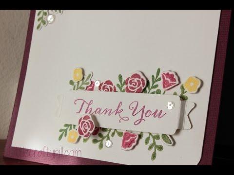 Tarjeta de agradecimiento / Thank you card - YouTube