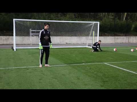 Goalkeeper training drill   How to save low shots   Swansea City Academy
