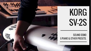#KORG SV2 / #SV2S - Best #Stagepiano 2020 with built-in Speakers | E-Piano, Organ | Sound Demo