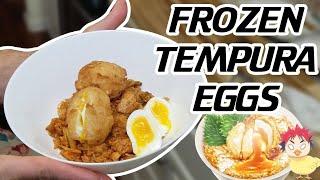 TEMPURA Fried FROZEN EGGS from Food Wars!  Shokugeki No Soma  Foodie Friday