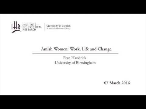 Amish Women: Work, Life and Change