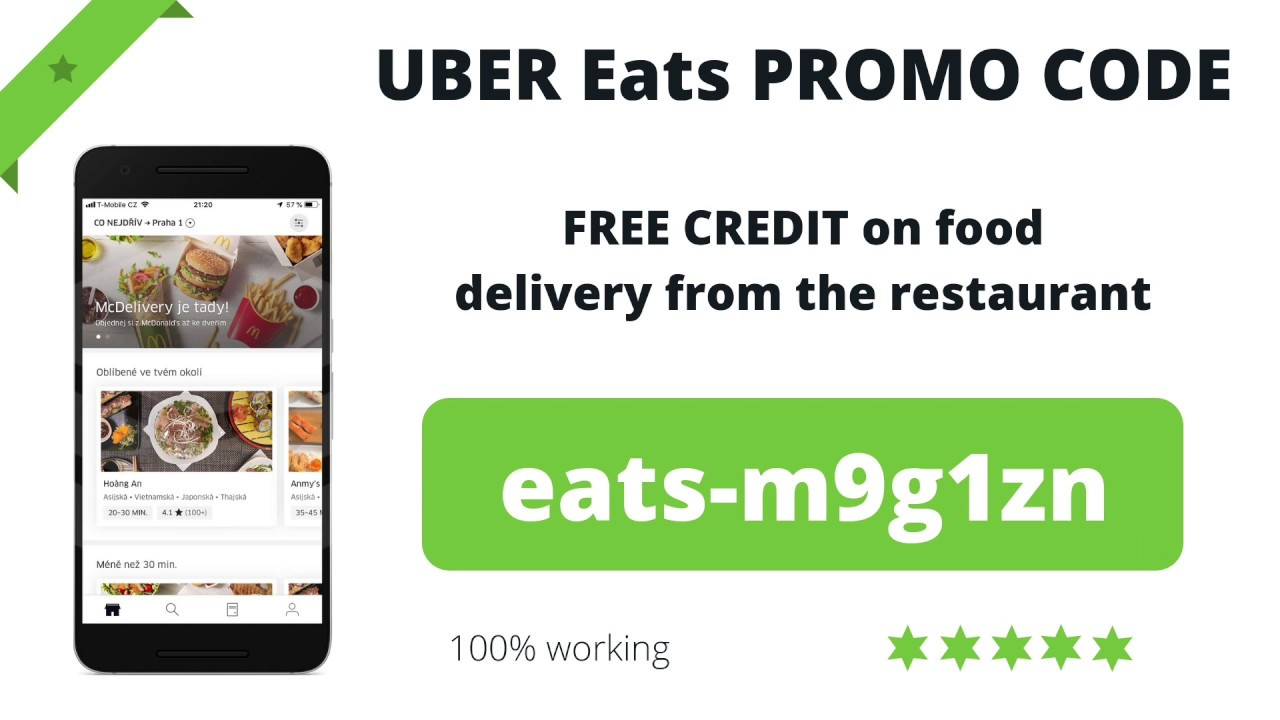 Uber Eats PROMO CODE (2019) - Get a discount on food delivery | 100% working