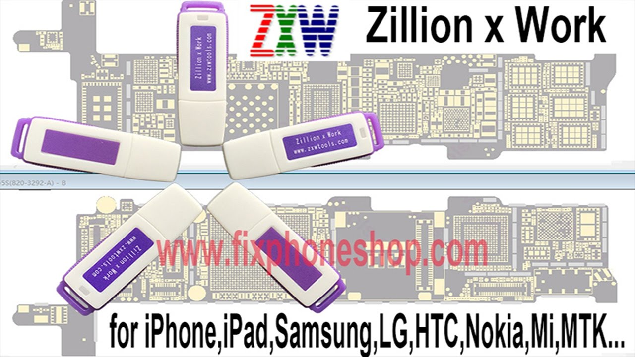 small resolution of zxw dongle zillion x work repair iphone ipad samsung logic board fix circuit diagram tools