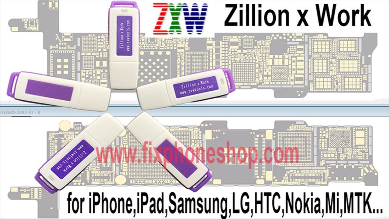 zxw dongle zillion x work repair iphone ipad samsung logic board fix circuit diagram tools [ 1280 x 720 Pixel ]