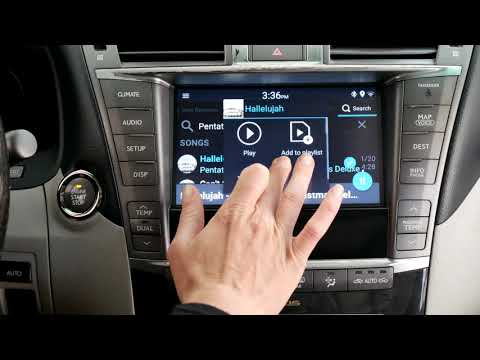 Lexus LS 460 2010-2012 Stereo VLine Demo - Google And Waze Maps, Web Radio, Spotify, Android Store