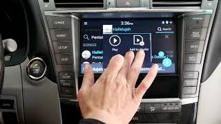 Скачать Lexus LS 460 2010 2012 Stereo VLine Demo Google And Waze Maps Web Radio Spotify Android Store