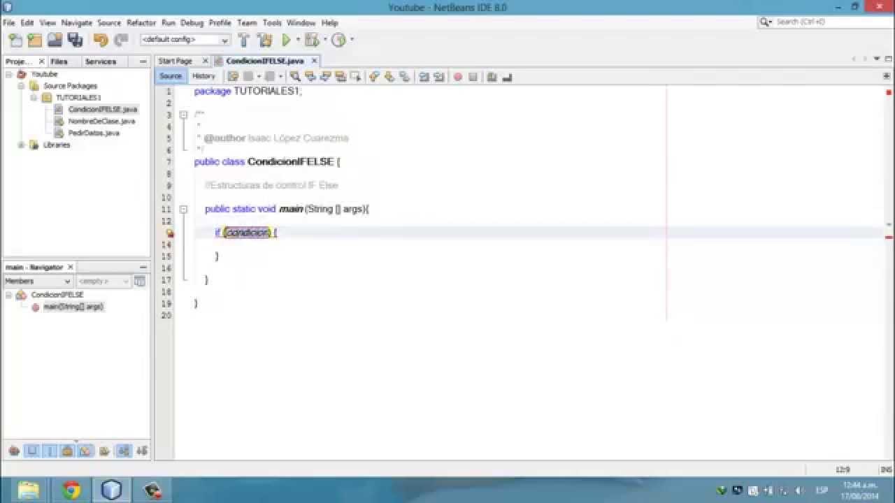Tutorial Java Consola 4 Estructura If Else