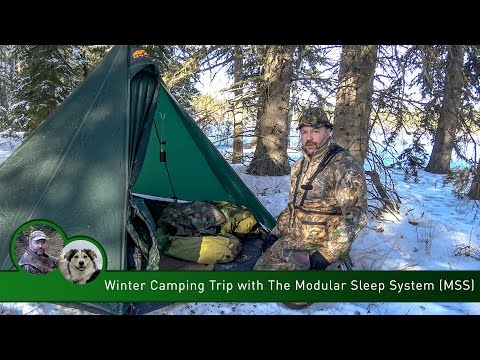 Winter Camping Trip with the Modular Sleep System (MSS)