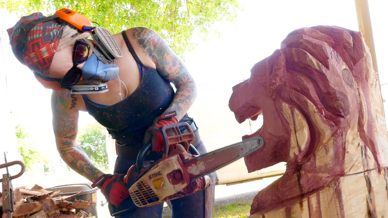 Griffon ramsey chainsaw artist plus is austin art fake