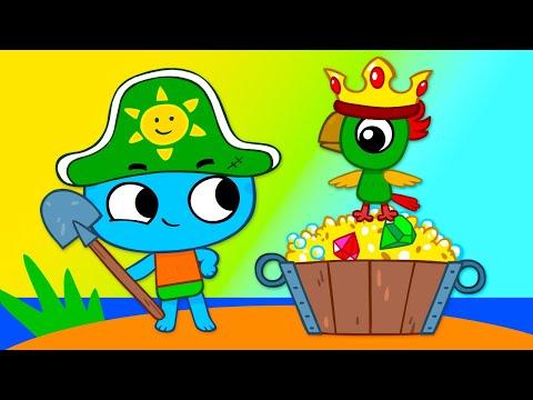 Котики вперед! - Сокровища острова Попугая! (14 серия) Мультики для детей  от 3 лет.