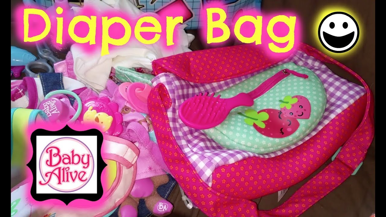 Our Baby Alive Diaper Bag Requested