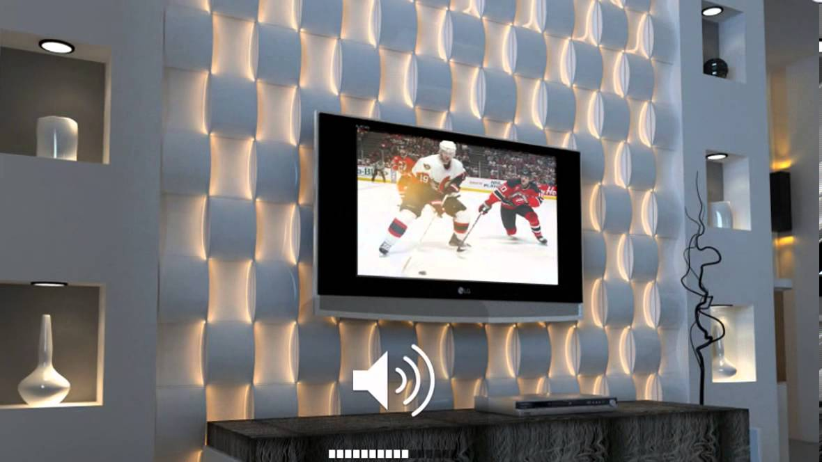Texturedsurface Led Lit 3d Wall Surface Panel From
