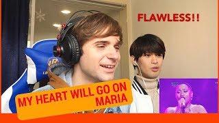 Maria MY HEART WILL GO ON Reaction (Indonesian Idol Spekta Show Finals)