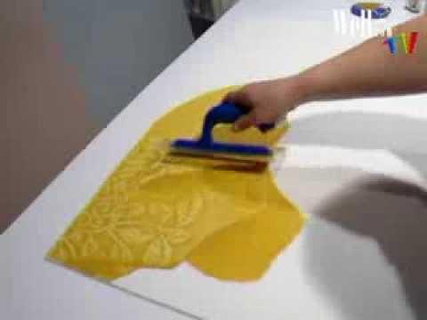 Ракельная техника поклейки стеклообоев Велтон