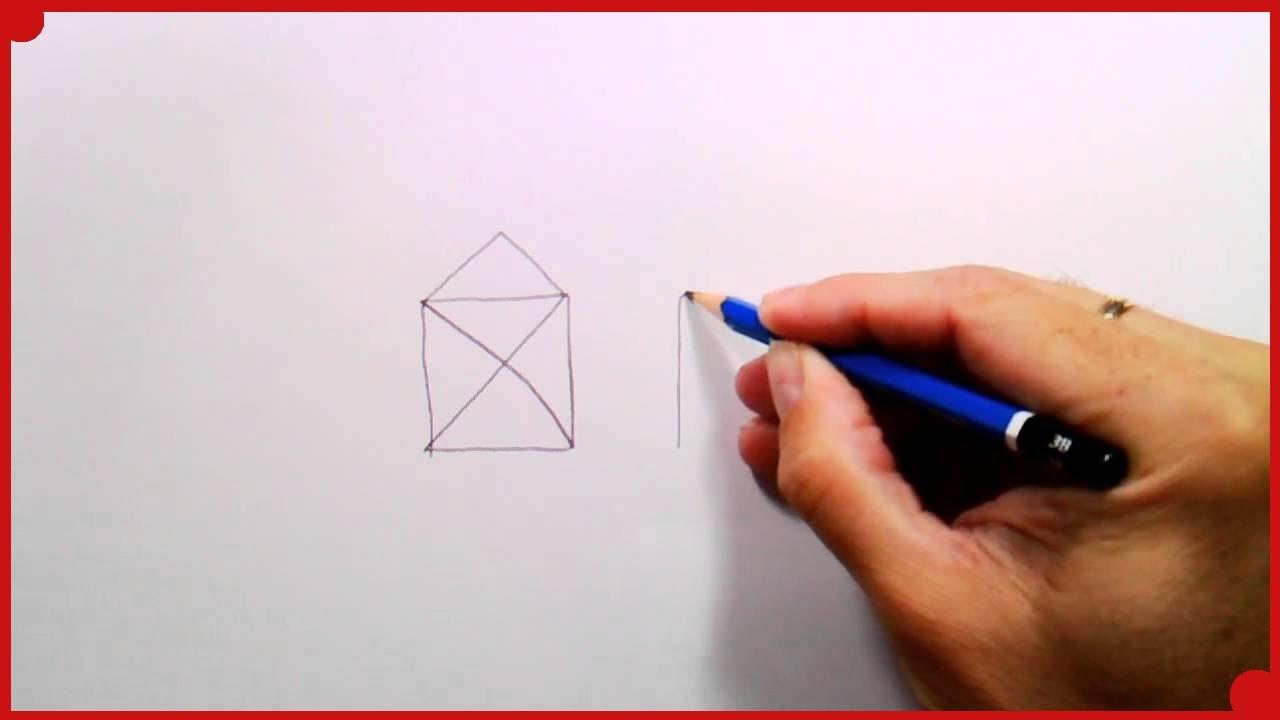 Dibuja esta casa sin levantar el lapiz del papel ni pasar - Hacer bolis en casa ...